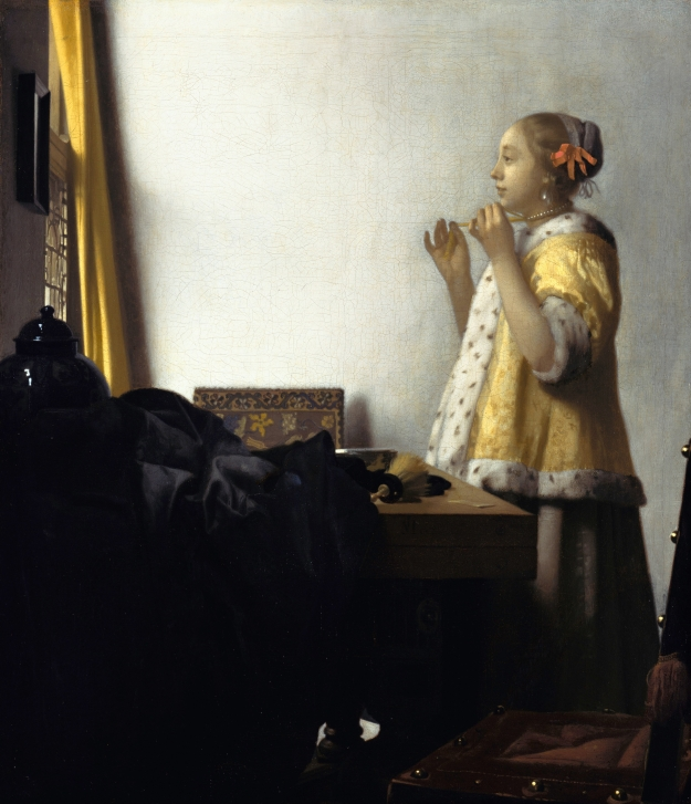 Vermeer Woman with a Pearl Necklace