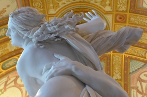 Sculpture by Bernini in the Borghese Gallery