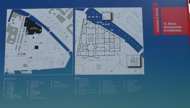 Venice Biennale site map