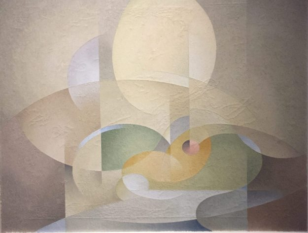 Abstract: Gold and Green, 1954, L. L. Fitzgerald