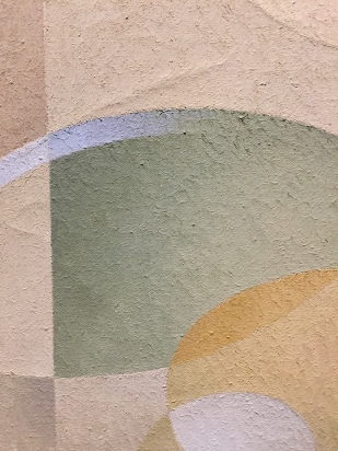 Abstract: Gold and Green, (detail), 1954, L. L. Fitzgerald