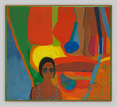 "Baby, Emma Amos, 1966, oil on canvas, 45"" x 50"""