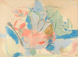Mountains and Sea, Helen Frankenthaler, 1952 National Gallery of Art image