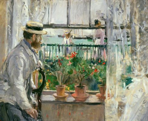 Berthe Morisot, In England (Eugène Manet on the Isle of Wight), 1875, oil on canvas, Musée Marmottan, Photo by Erich Lessing Art Resource, NY